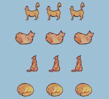 Orange Kitty Mini Stickers Kids Clothes