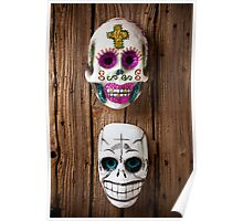Two skull masks Poster