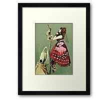 Gothic Moths Framed Print