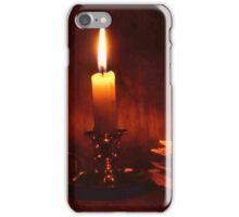 Candle and old books iPhone Case/Skin