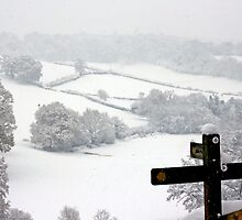 Snowy Fields, Petworth. by Emma S