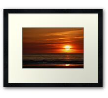 Banna Sunset Framed Print