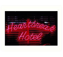 Heartbreak hotel neon Art Print