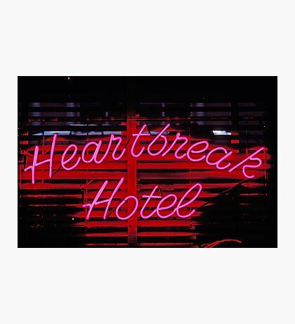 Heartbreak hotel neon Photographic Print