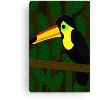 Toucan in the Jungle Canvas Print