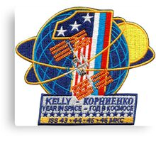 ISS: One Year Mission Logo Canvas Print