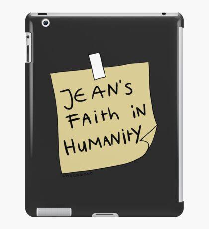 Jean's Faith in Humanity iPad Case/Skin