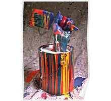 Hand coming out of paint can Poster