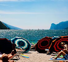 Relaxing in Torbole, Lake Garda. by Emma Turner