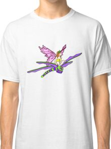 Dragonfly Riding Faerie Classic T-Shirt