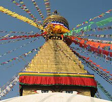 Prayer Flags At Boudha by Jan Vinclair
