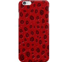 Red texture iPhone Case/Skin