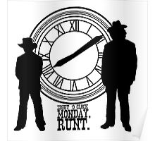 Eight o'clock, runt. Poster