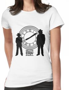 Eight o'clock, runt. Womens Fitted T-Shirt