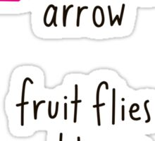 Fruit Flies Like Banana Sticker