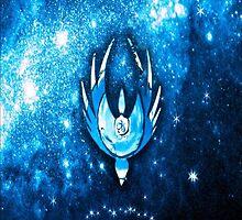 Battlestar Galactica  - Blue Galaxyscape & Symbol by SynchronicFlux