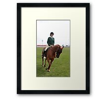 Royal Hobart Show competitor Pony Rider- 2011 Framed Print