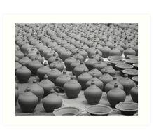 Pots, Pots and More Pots Art Print