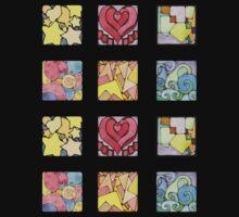 Mini Assorted Geometric Stickers Kids Tee