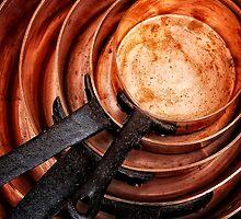 Copper Pans by Simon Duckworth