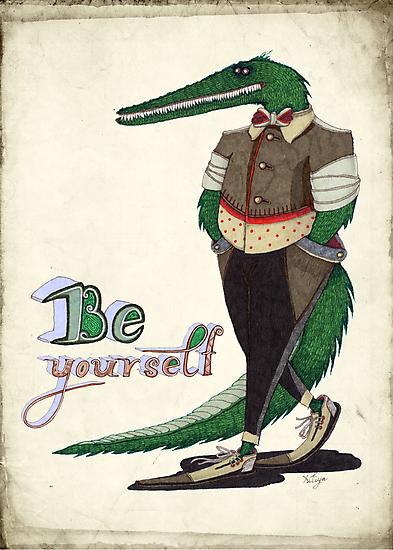 Walking Crocodile by Yuliya Art
