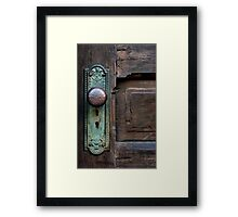 OLD DOOR KNOB Framed Print