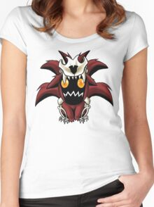 Chibi Nine Tailed Fox Women's Fitted Scoop T-Shirt