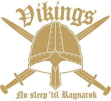 Vikings - No sleep til Ragnaroek Photographic Print