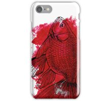 red fish iPhone Case/Skin