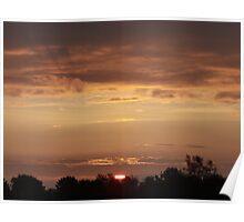 Sunrise over Devon. Poster