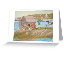 Bailey Island Fishing Shed Greeting Card
