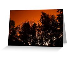 Apocalyptic skies over Yellowknife-wildfires-summer of 2014 Greeting Card