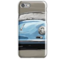Porsche 356 Speedster blue iPhone Case/Skin