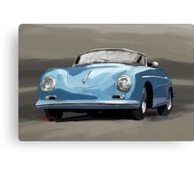 Porsche 356 Speedster blue Canvas Print