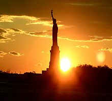 Statue of Liberty at Sunset by Sean Foreman