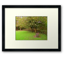 A Bench Somewhere Framed Print