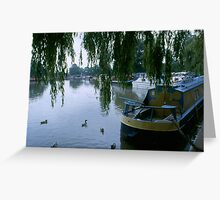 River Boats At Rest Greeting Card