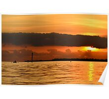 Sunset Rowing Poster