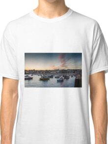 Sunset over St Ives Harbour, Cornwall UK Classic T-Shirt