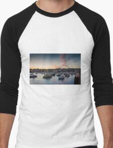 Sunset over St Ives Harbour, Cornwall UK Men's Baseball ¾ T-Shirt