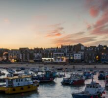 Sunset over St Ives Harbour, Cornwall UK Sticker