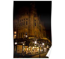 Bettys At Night Poster