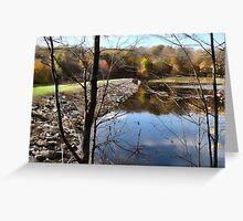 The dam at Hemlock Lake Greeting Card