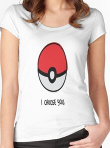 Pokéball - I Choose You Women's Fitted Scoop T-Shirt