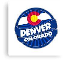 Denver Colorado flag burst Canvas Print
