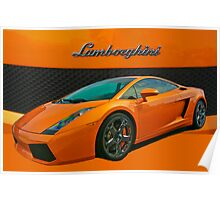 Super Car in Orange Poster