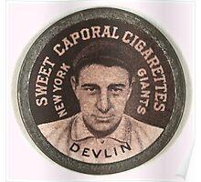 Benjamin K Edwards Collection Art Devlin New York Giants baseball card portrait 001 Poster