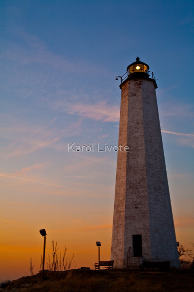 Lighthouse at Dusk by Karol Livote