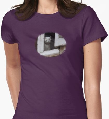 When are you coming home ?  - JUSTART  © Womens Fitted T-Shirt