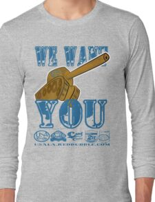 we want you by rogers bros tshirts Long Sleeve T-Shirt